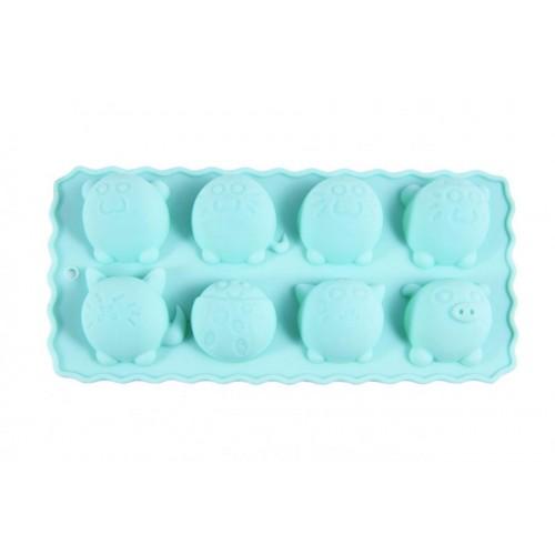 Форма для льда  или шоколада 8 ячеек Круглые зверя