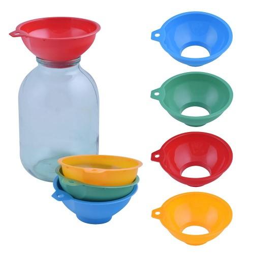 76-59 Воронка для банок 6,5*14см 5цветов пластик б