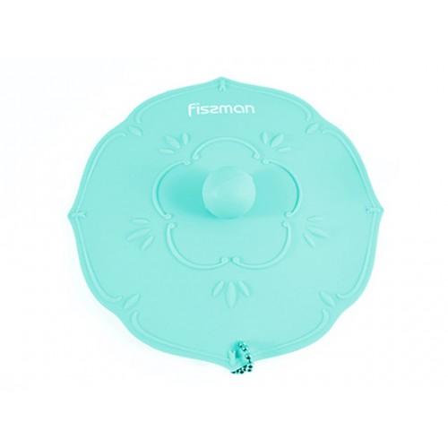 Крышка 11,5см цвет аквамарин ,силикон, без упаковк