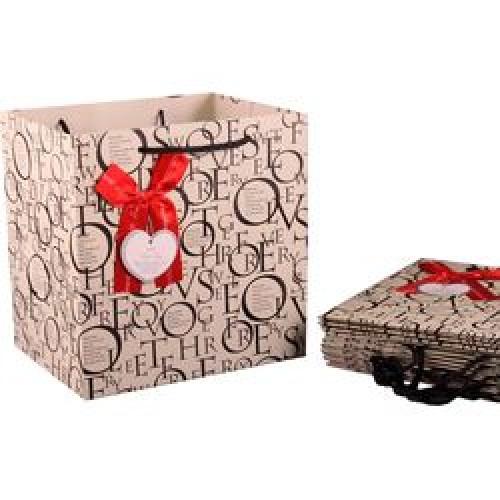 Пакет подарочный бумажный 21*22*16см мин.10