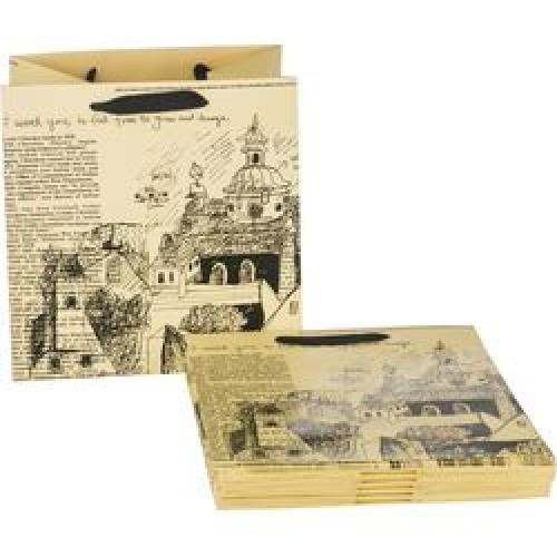 Пакет подарочный бумажный 30*30*25см мин.10шт