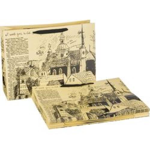 Пакет бумажный подарочный 60*40*23см  мин.10