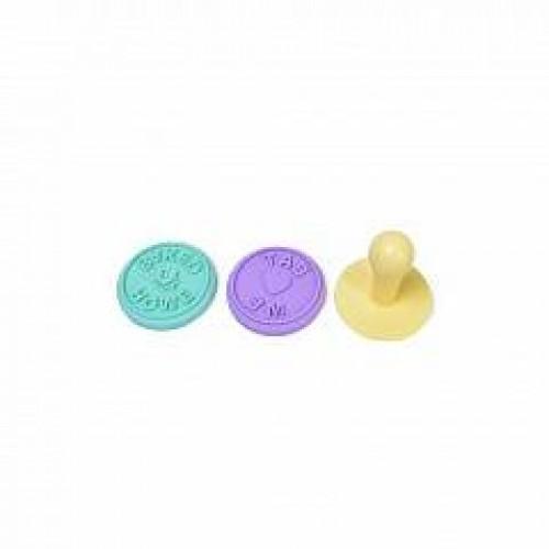 Штамп для печенья на пластиковой ручке силикон