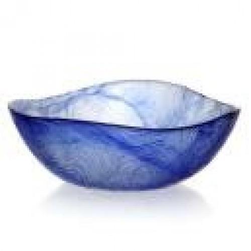 Салатник закаленный ЛИНДЕН 140мм голубой стекло б\